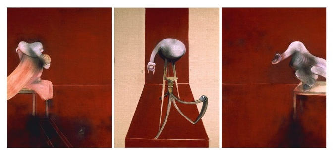 2nd version - Three Studies for Figures at the Base of a Crucifixion, 1988.